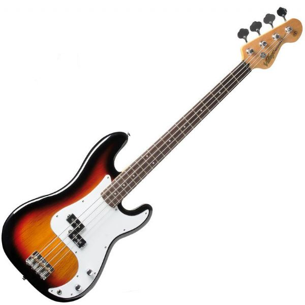 VINTAGE V4SB Reissued Bass Guitar - Sunburst - New